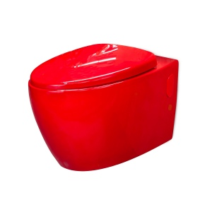 Toilet bowl, red (Cherry) 57 cm