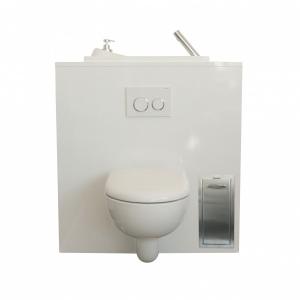 Einbau-abfalleimer für Wand-WC