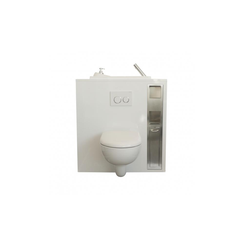 combin r serve de papier wc et support balai encastr wici concept. Black Bedroom Furniture Sets. Home Design Ideas