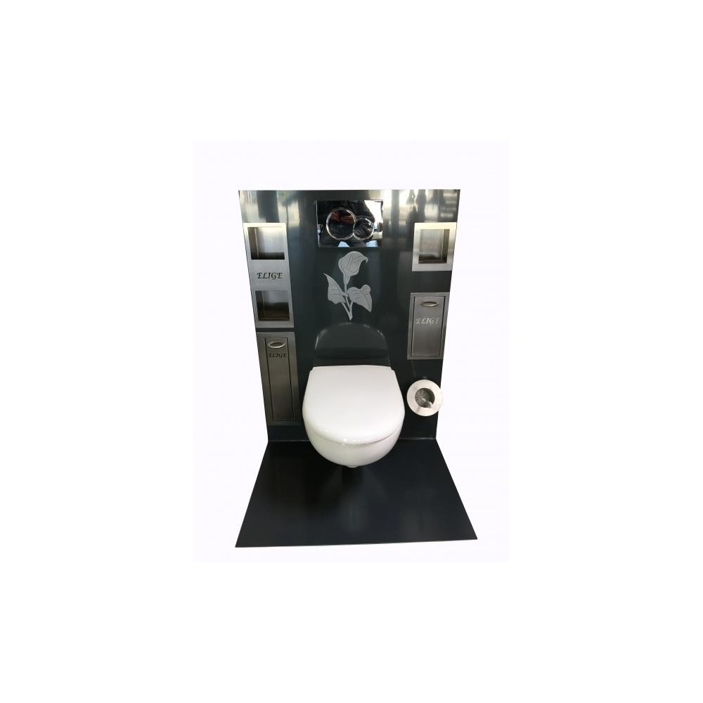 pot balai brosse semi encastr pour wc suspendu wici concept. Black Bedroom Furniture Sets. Home Design Ideas