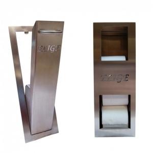 Einbau-Ersatzrollenhalter und WC-Bürstenhalter Pack