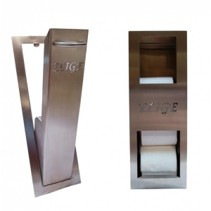 pack reserve de papier toilette et support à balai encastrés
