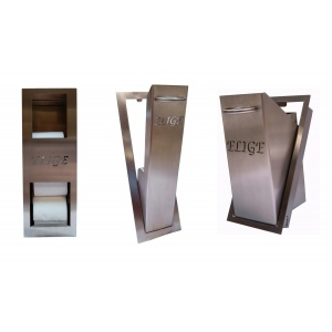 Paper storage container, toilet brush holder and garbage can pack