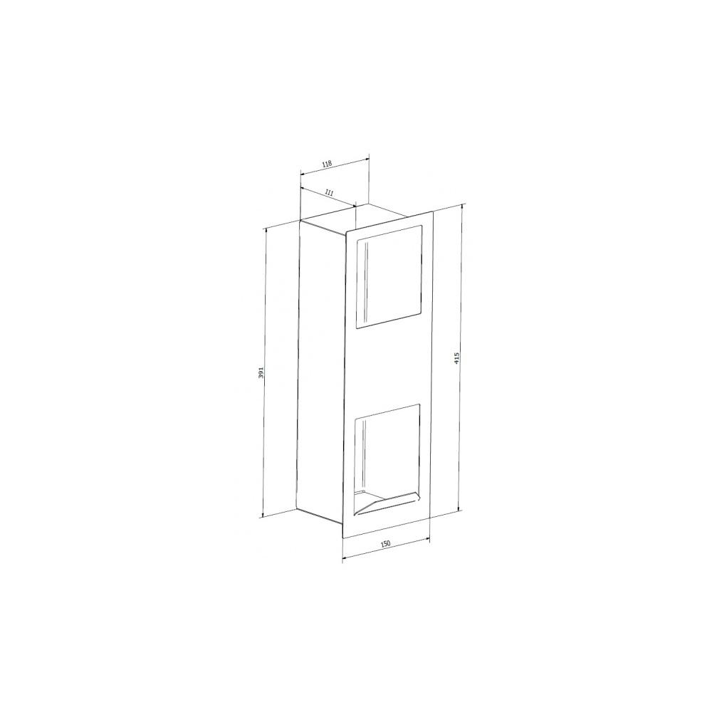 ersatzrollenhalter wc b rstenhalter und abfalleimer pack wici concept. Black Bedroom Furniture Sets. Home Design Ideas