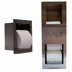 Toilet paper holder and paper storage container pack