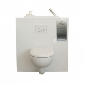 Built-in storage unit for wall-hung toilets