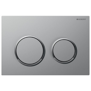 Matt/Bright chrome Geberit OMEGA 20 flush control plate