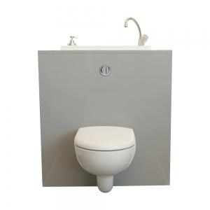 WC suspendu Geberit avec lave-mains intégré WiCi Bati, modèle Mineral