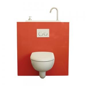 WC suspendu Geberit avec lave-main WiCi Bati - Modèle Lipstick
