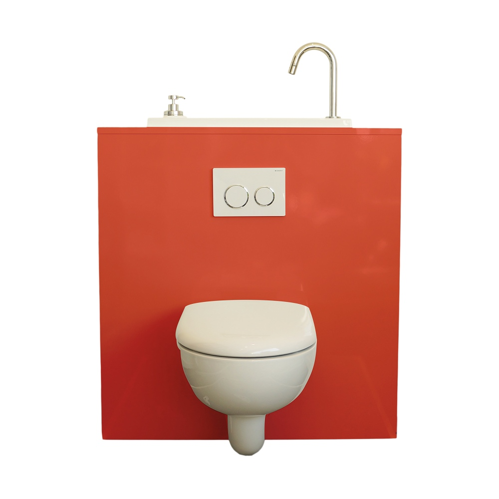 Wall Hung Toilet With Wici Boxi Washbasin Lisptick