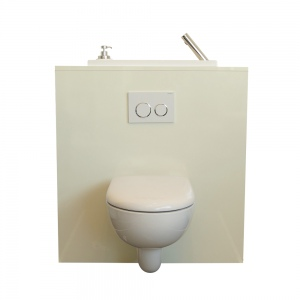 Wallhung toilet with WiCi Boxi washbasin Miami WiCi Concept