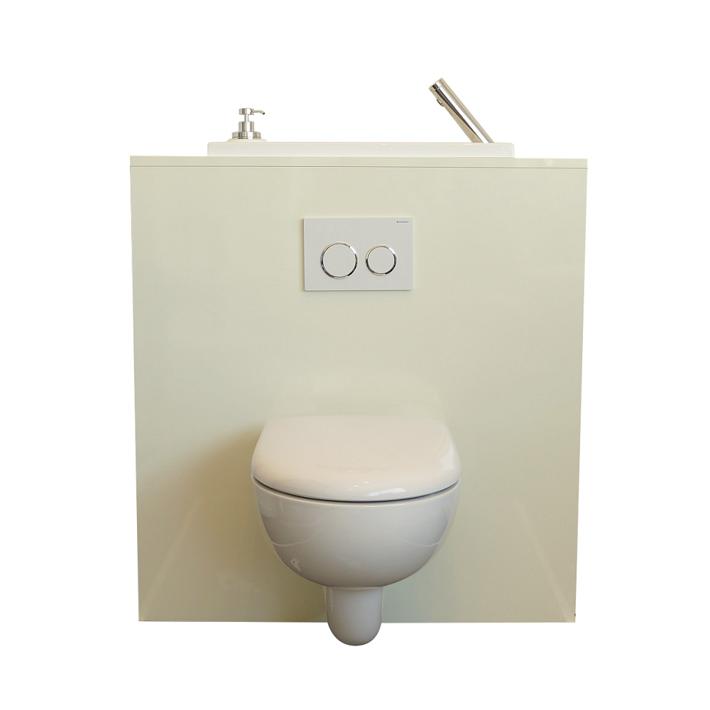 Wall Hung Toilet With Wici Boxi Washbasin Miami Wici