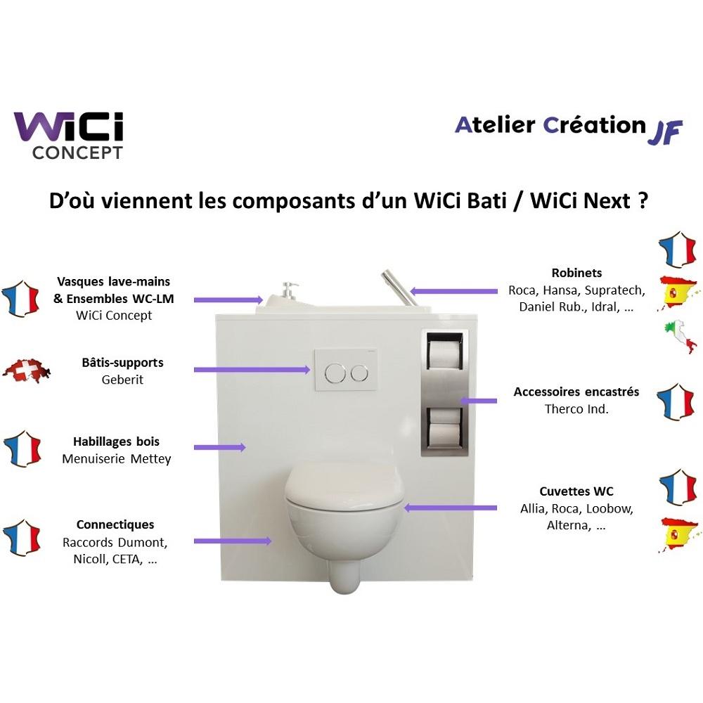 Largeur Wc Suspendu Geberit wc suspendu geberit avec lave main wici bati - modele miami