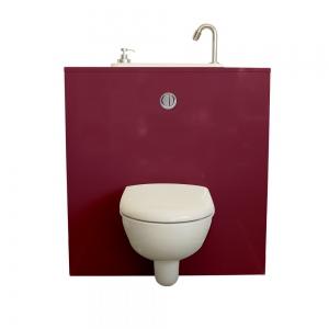 WC suspendu avec lavabo WiCi Next, modèle Opéra