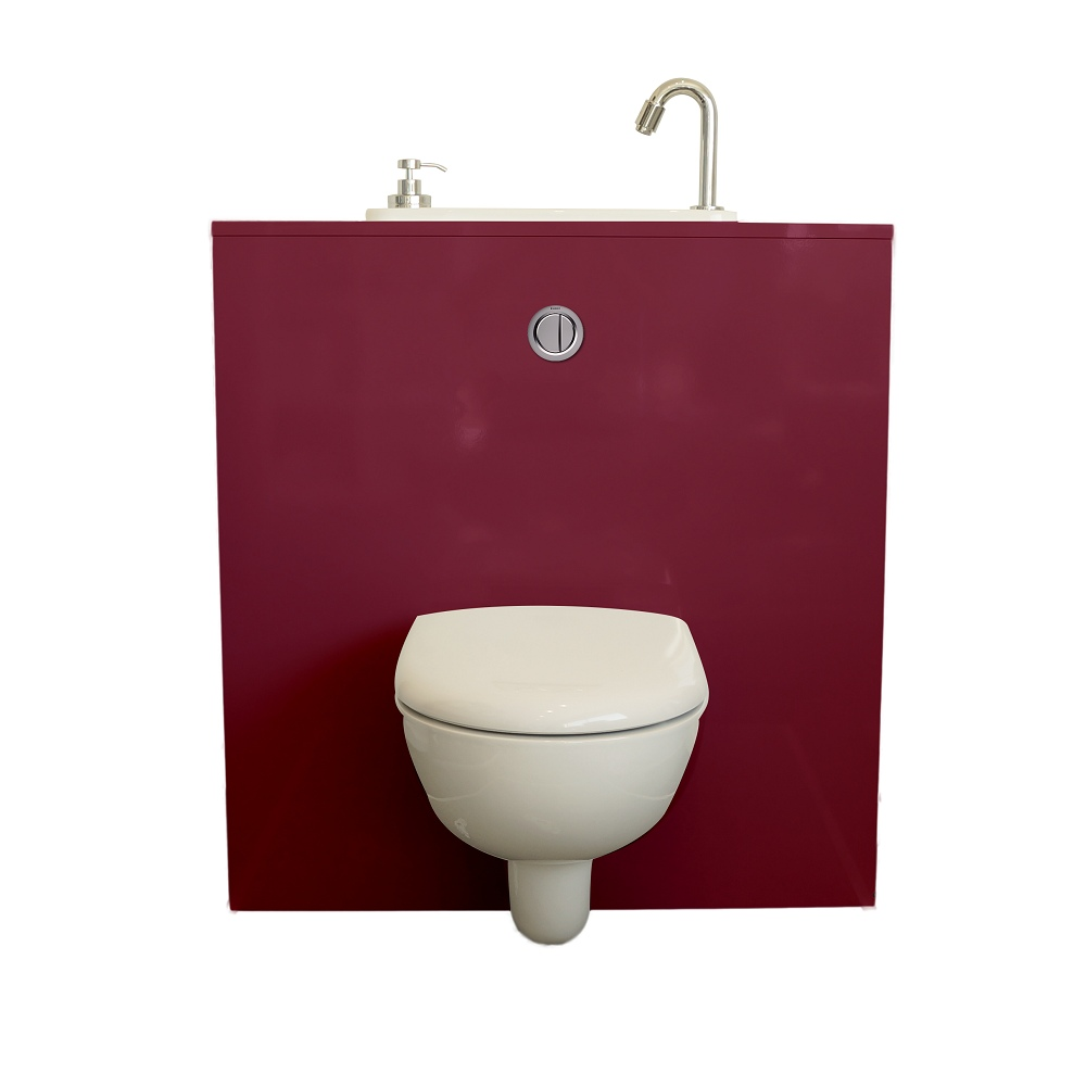 Wall Hung Toilet With Wici Next Washbasin Opera Wici
