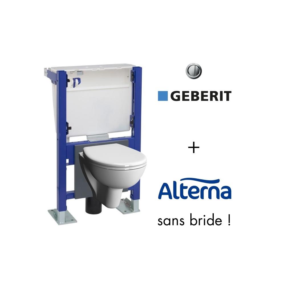 Cuvette De Wc Suspendu Geberit geberit wall-frame and alterna verseau rimless compact toilet