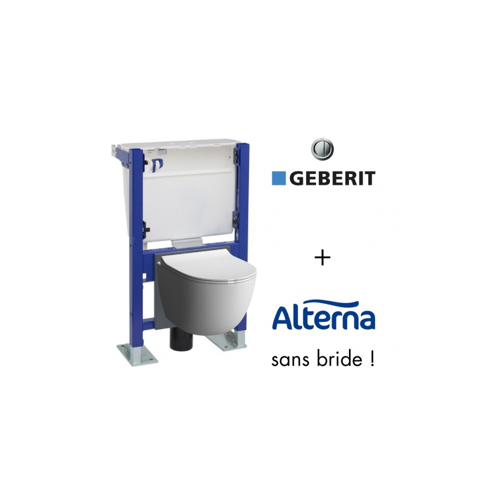 Suspended Toilet With Geberit Wall Frame And Alterna Daily O