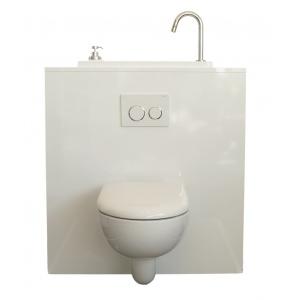 wc suspendu geberit avec lave mains wici bati modele coco. Black Bedroom Furniture Sets. Home Design Ideas