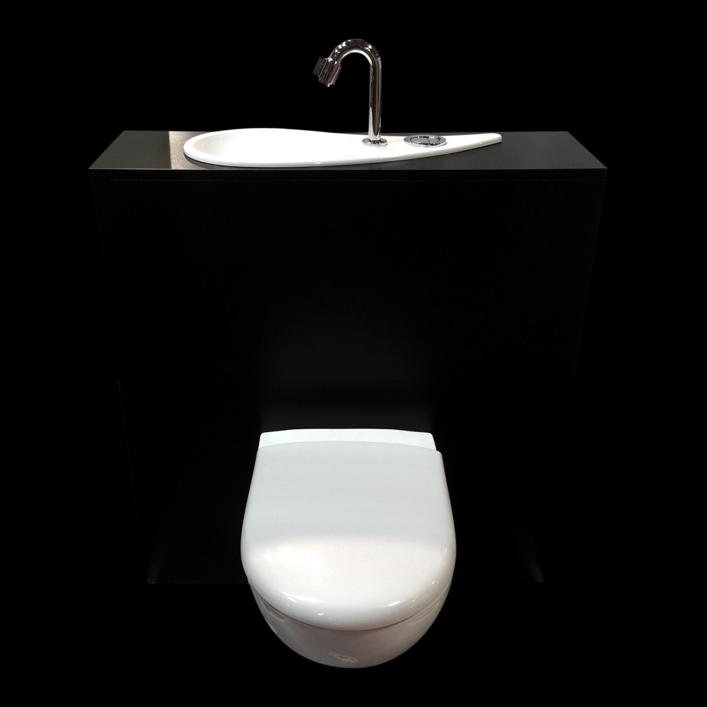 WiCi Free Flush, Geberit wall-hung toilet with incorporated hand ...