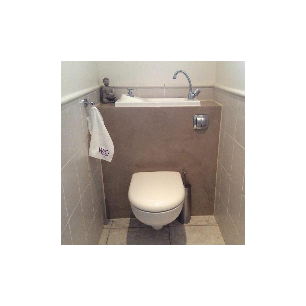 wc suspendu geberit avec lave mains de grande taille. Black Bedroom Furniture Sets. Home Design Ideas