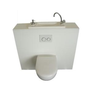 wc suspendu geberit avec lave mains de grande taille configuration standard wici concept. Black Bedroom Furniture Sets. Home Design Ideas