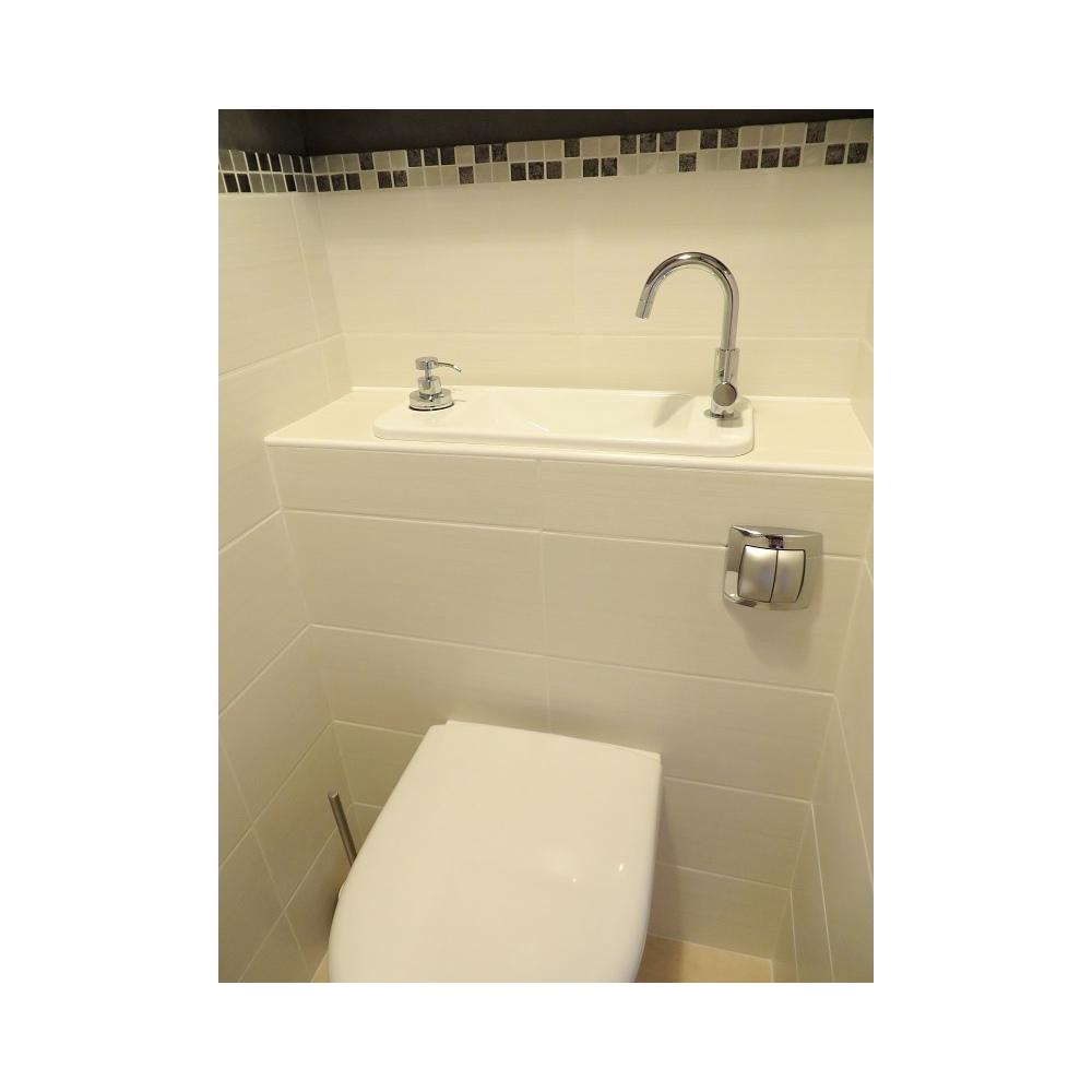 wc suspendu geberit avec cuvette sans bride et lave mains. Black Bedroom Furniture Sets. Home Design Ideas