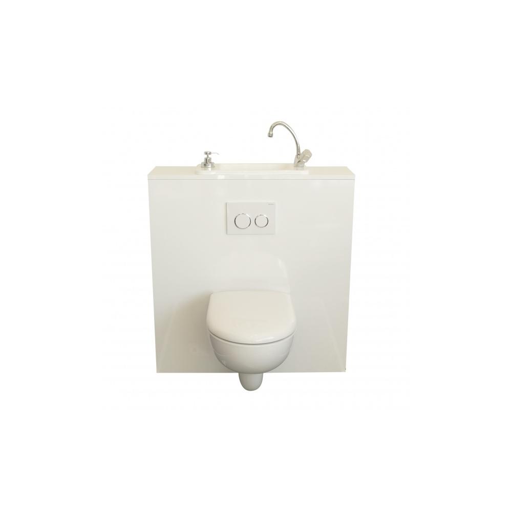 wc suspendu geberit avec lave mains compact. Black Bedroom Furniture Sets. Home Design Ideas