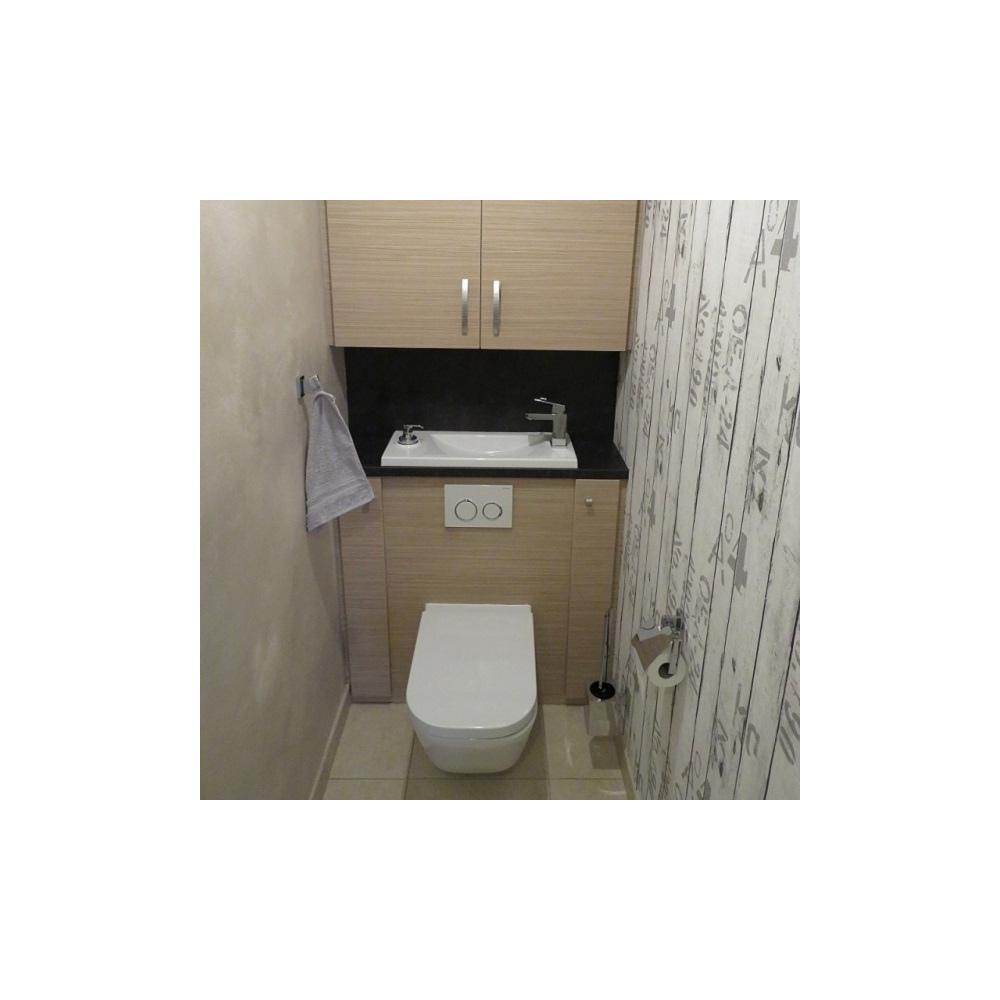 wc suspendu geberit avec grand lave mains et robinet. Black Bedroom Furniture Sets. Home Design Ideas