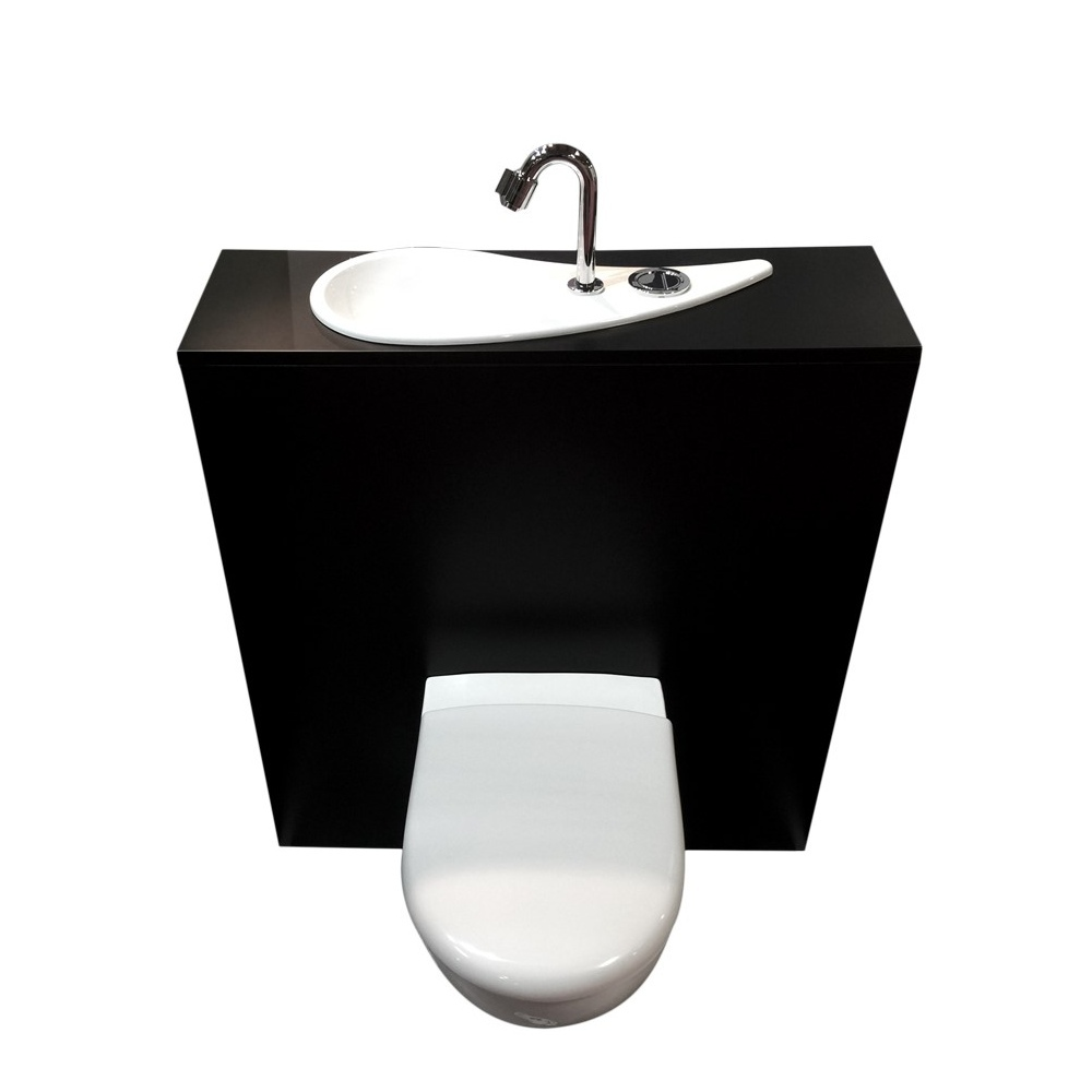Wc suspendu geberit avec lave mains design et robinet - Wc suspendu avec lave main ...