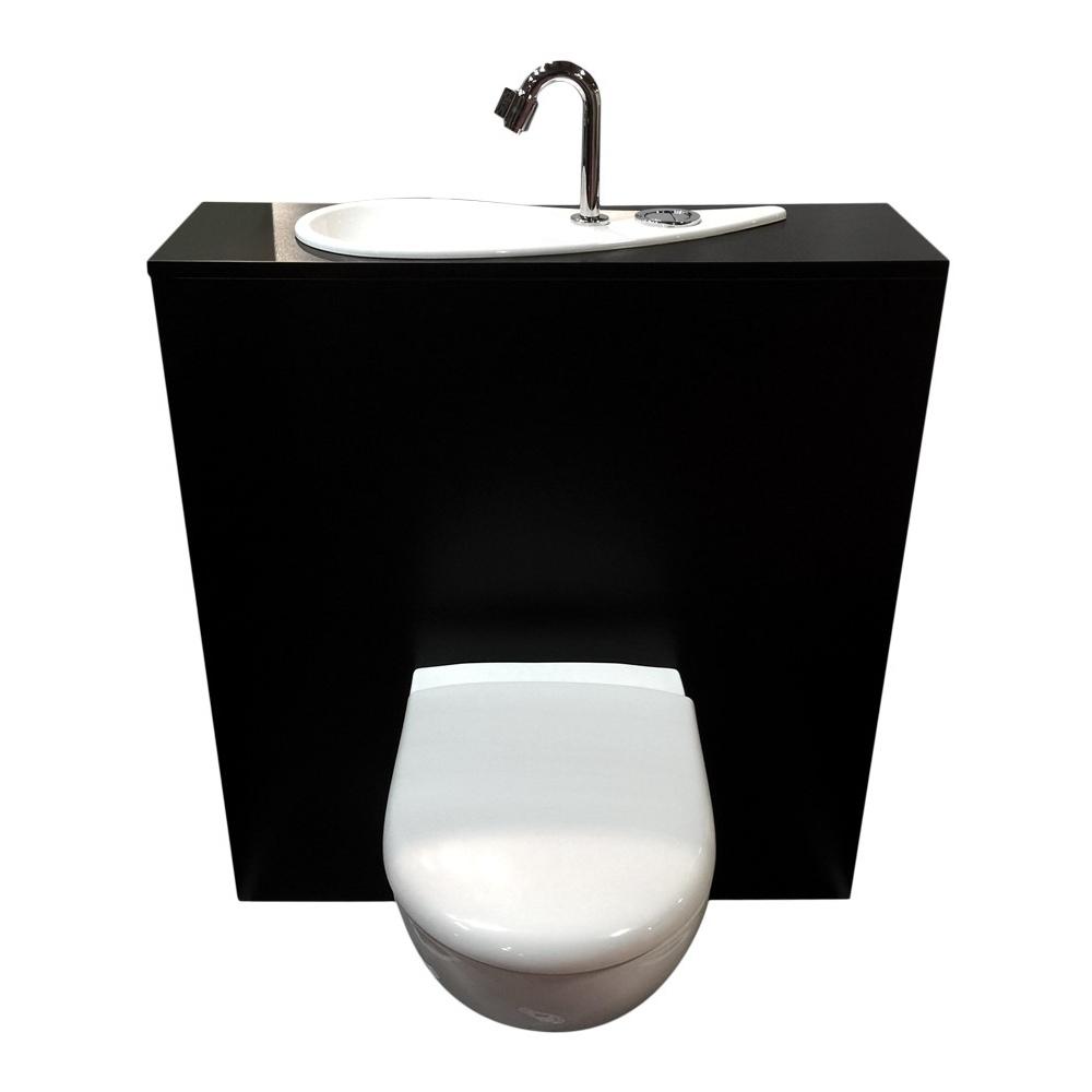wici free flush wc suspendu geberit avec lave mains. Black Bedroom Furniture Sets. Home Design Ideas
