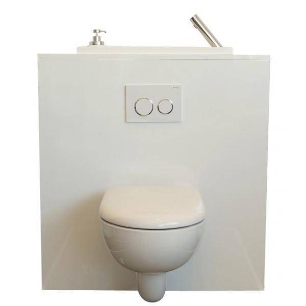wc suspendu avec grand lave main int gr wici bati. Black Bedroom Furniture Sets. Home Design Ideas