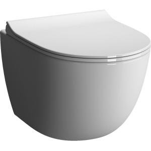 Alterna Daily O compact, rimfree toilet bowl 49.5 cm