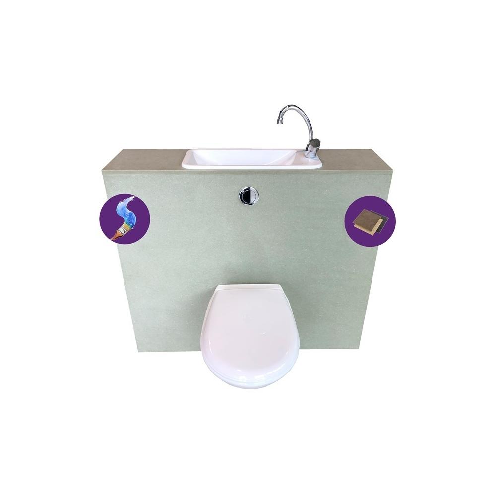 Wici first pack wc suspendu geberit avec lave mains pas cher int gr - Wc suspendu avec lave main ...