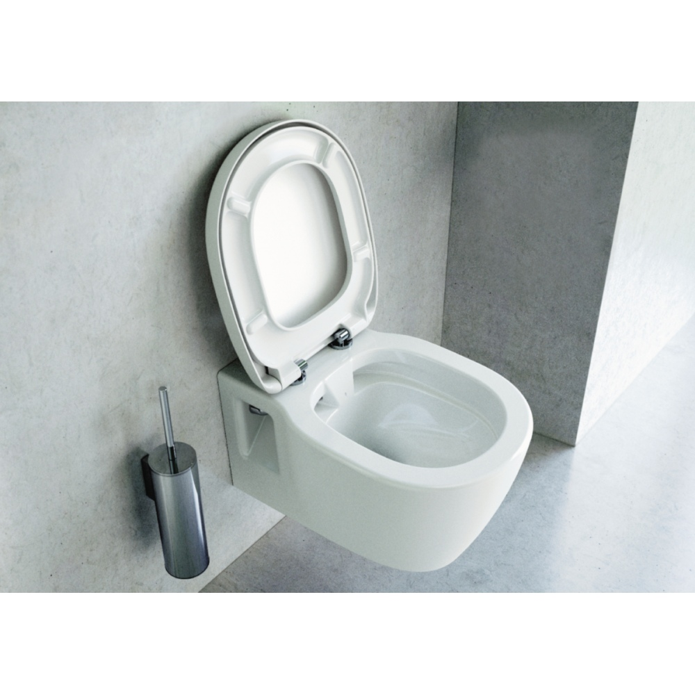 Hanging Commode: Hanging Toilet Bowl Connect Rimfree