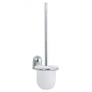 Stainless steel wall mounted toilet brush holder