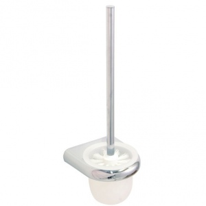 Mural chromed plastic toilet brush