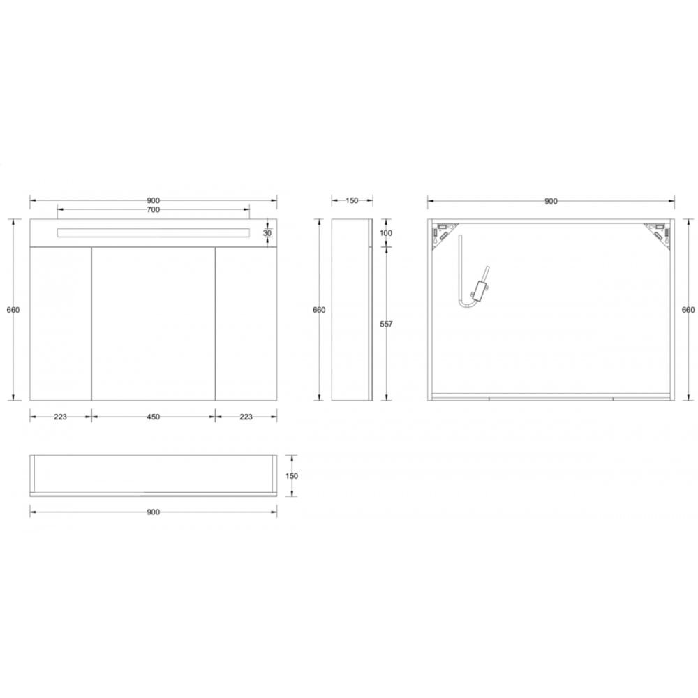 Hauteur Armoire De Toilette armoire de toilette seducta 90 cm