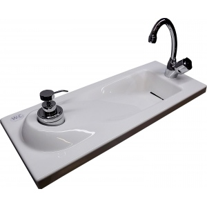 WiCi Boxi sloped hand wash basin - Design 3