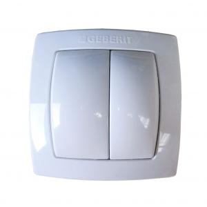 Geberit white pneumatic flush control plate