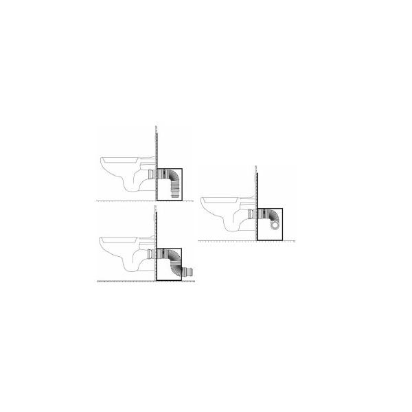 pipe d 39 vacuation ceta multibati pour cuvette wc suspendu. Black Bedroom Furniture Sets. Home Design Ideas