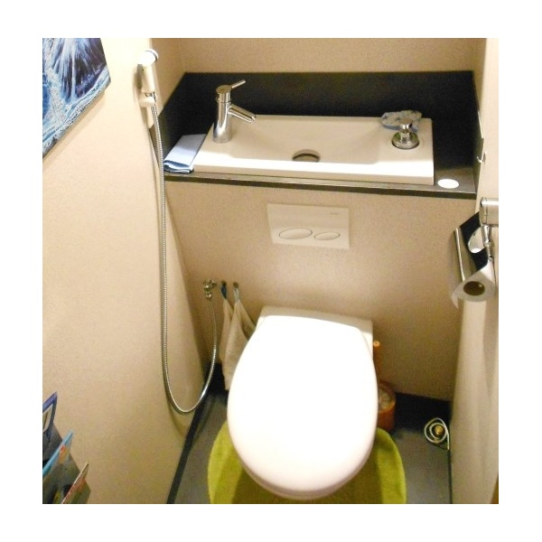Douchette pour wc suspendu blanche wici concept - Wc avec douchette ...