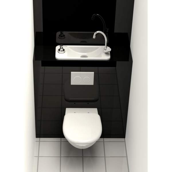 Wc suspendu geberit avec lave main compact int gr wici - Wc suspendu lave main ...