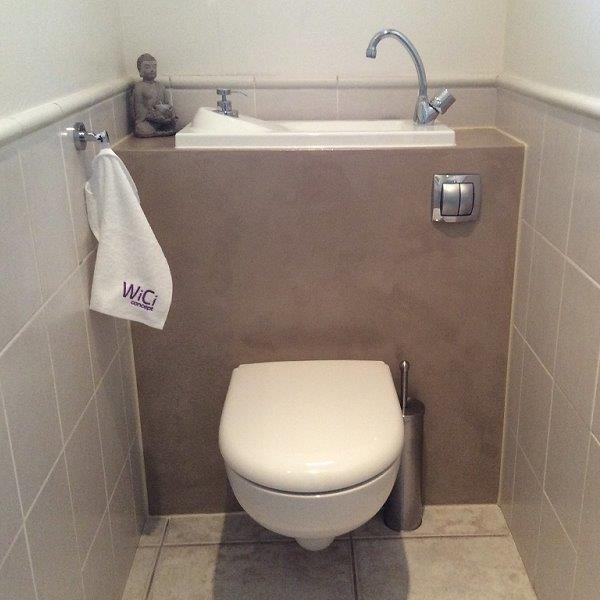 Wici Boxi Wash Basin Incorporated In Wall Mounted Wc