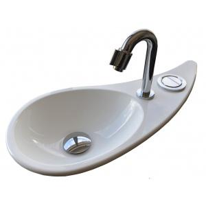 Vasque lave-mains en goutte d'eau WiCi Free Flush