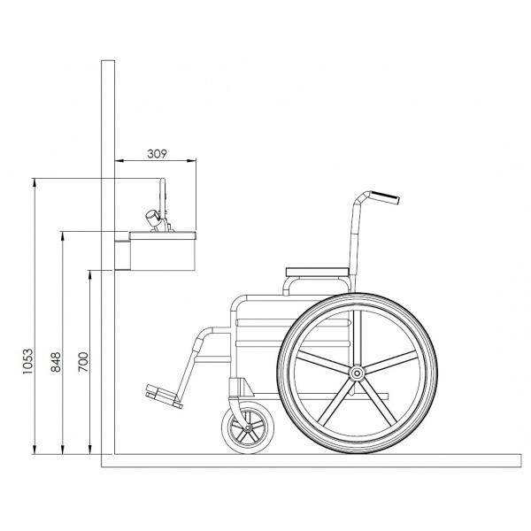 Hauteu Lavabo Pmr : Lavabo pmr compact pour erp wici concept