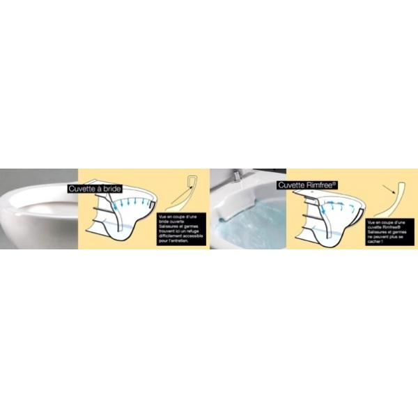 cuvette wc suspendue rimfree sans bride allia prima wici concept. Black Bedroom Furniture Sets. Home Design Ideas