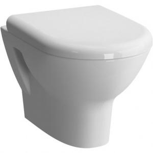 Cuvette WC suspendu Adésio carénée compact 50 cm avec abattant ralenti