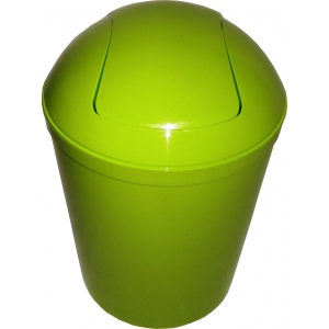Plastic garbage can
