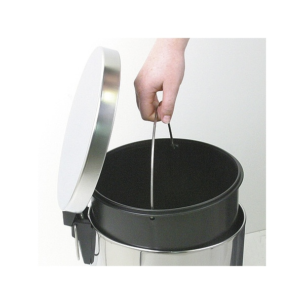 Metalic Garbage Can Round Wici Concept