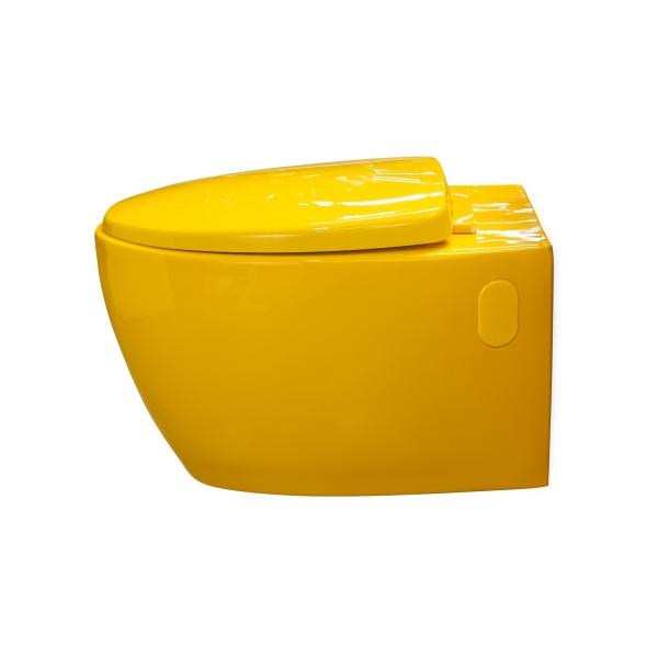 cuvette wc suspendue design de couleur avec abattant. Black Bedroom Furniture Sets. Home Design Ideas